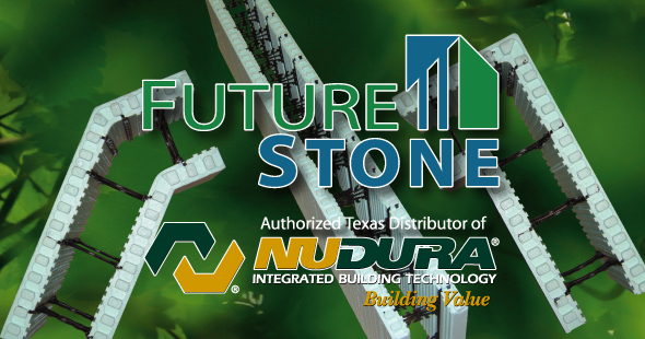 FutureStone is the Authorized Texas distributor of NUDURA Insulated Concrete Forms